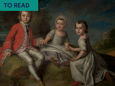 Painting by William Hoare of Bath depicting 2nd Duke of Newcastle's three children