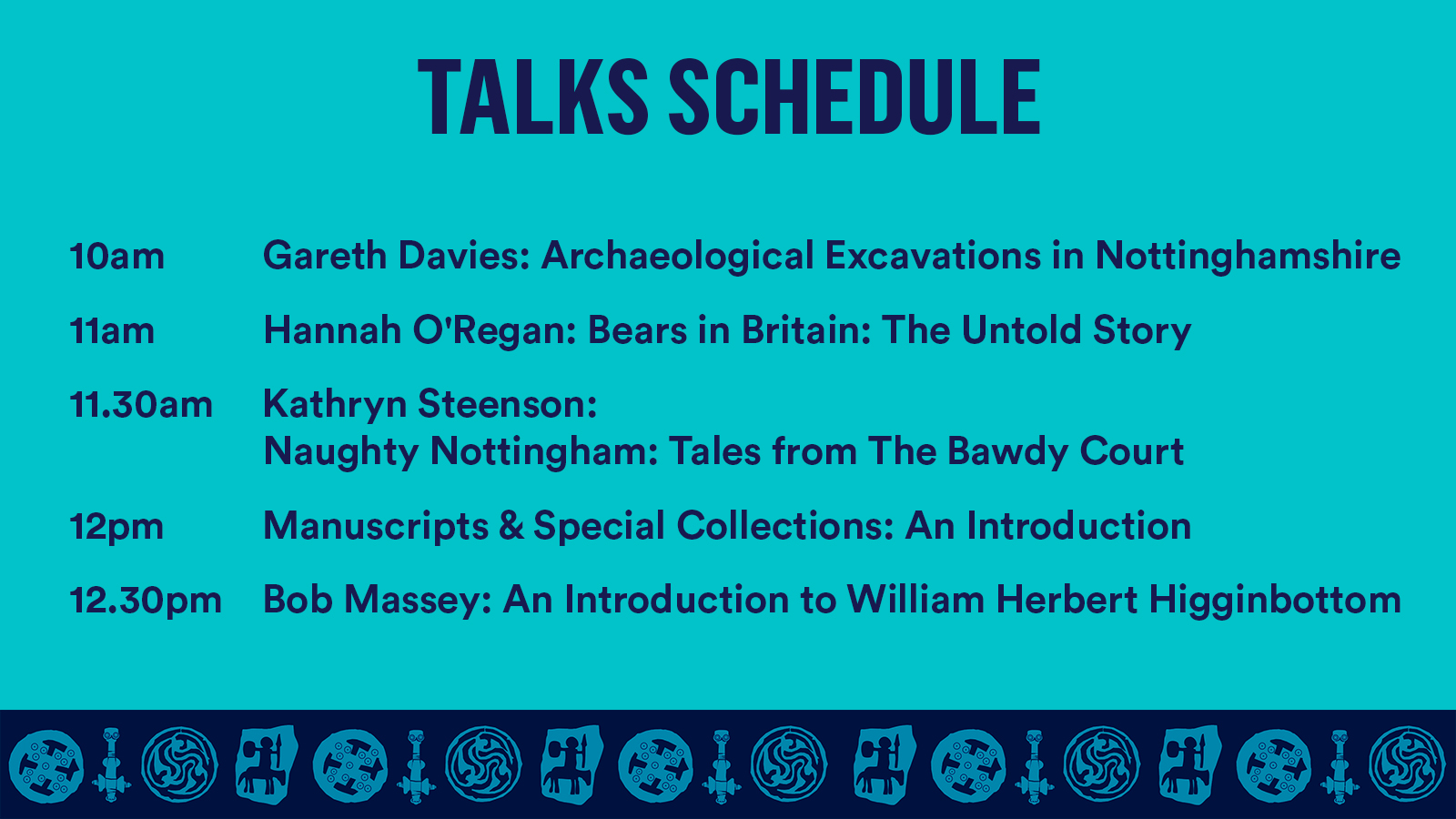 Schedule of talks outlined
