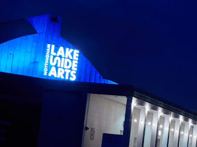 Lakeside Arts' Pavilion at night