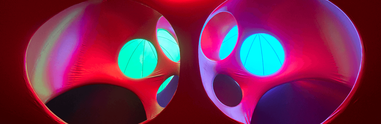 Inside a luminarium at Lakeside Arts