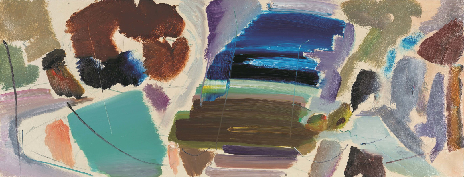 Roof Painting No.2 1977 by Ivon Hitchens
