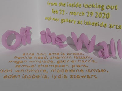 'Off the Wall' written in pink putty