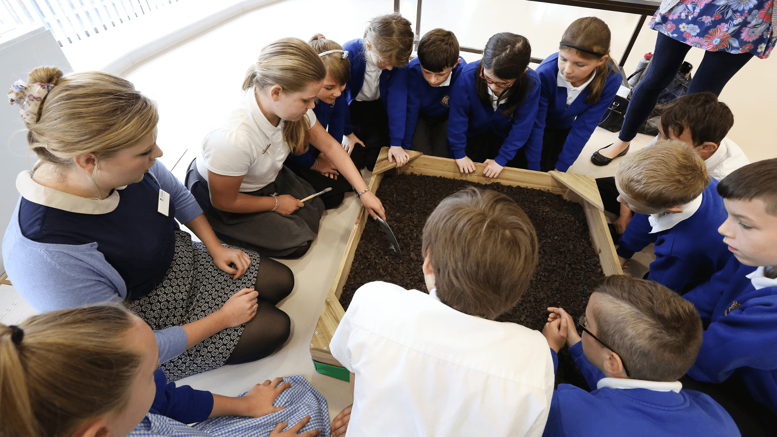 School group enjoying Museum workshop