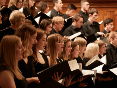 University Choir performing in Nottingham's Albert Hall