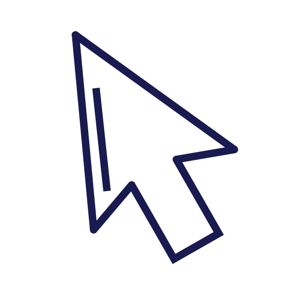 blue outline of a web arrow pointer