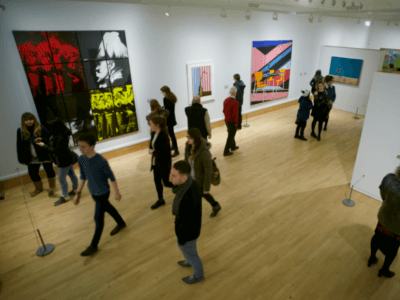 Audiences in the Djanogly Gallery