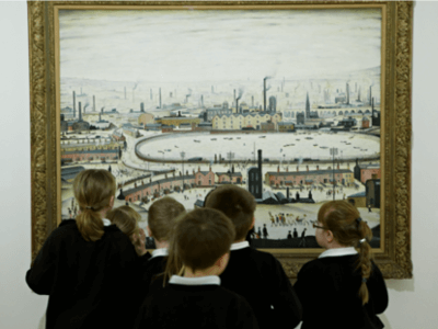 School group in Djanogly Gallery